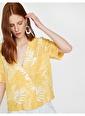 Koton Desenli Gömlek Sarı